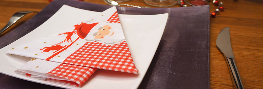 serviettes-de-table-pour-noel
