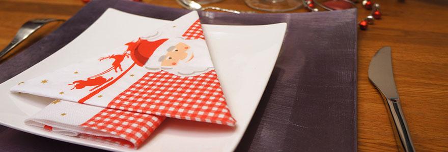 serviettes-de-table-pour-noel
